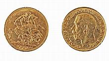 Gold pound coin, George V, 1921