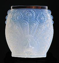 French glass vase. Etling.