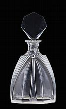 Perfume glass bottle with silver applications.