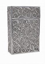 Portuguese silver filigree cigarrete box.