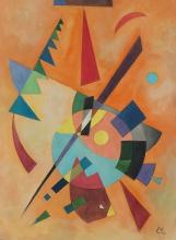 Painting: Attributed to Wassily Kandinsky (Russian 1866-1944)