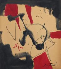 Painting: Attributed to ROBERT MOTHERWELL (American, 1915-1991)