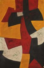 Painting: Attributed to: SERGE POLIAKOFF (Russian-born French modernist, 1900-1969)