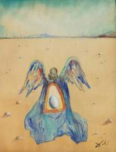 Painting: Attributed to SALVADOR DALI (Spanish surrealist, 1904-1989)