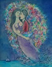 Painting: Attributed to MARC CHAGALL (Russian, 1887-1985)