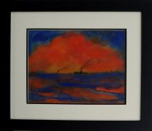 Painting: Attributed to EMIL NOLDE (German-Danish expressionist, 1867-1956)