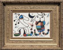 Painting: Attributed to JOAN MIRO (Spanish/Catalan, 1893-1983)