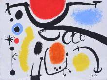 Painting: Attributed to: JOAN MIRÓ (Spanish, 1893-1983)