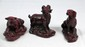 3 CHINESE WOOD CARVINGS OF DOG RAM BULL FIGURES