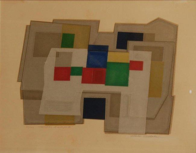 WAICHI TSUTAKA (JAPANESE,1911-1995) SIGNED LITHO