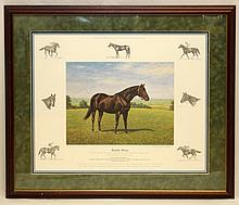 RICHARD STONE REEVES  SIGNED   LITHO SEATTLE SLEW