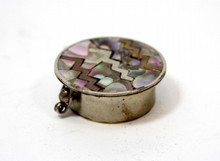 MEXICAN STERLING SILVER AND MOTHER OF PEARL CASE
