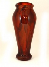 SCHNEIDER FRANCE AMBER ART GLASS VASE