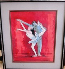 OIL ON CANVAS BY ANDRE CHOCHON 2 DANCERS