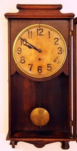 ANTIQUE OAK NEW HEAVEN REGULATOR CLOCK