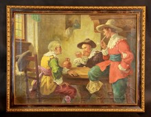 ANTIQUE OIL ON CANVAS BY R. WEEBER