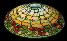 ANTIQUE DUFNER KIMBERLY LEADED LAMP SHADE
