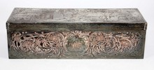 ANTIQUE METAL BOX STAMPED VISITE AU PARC