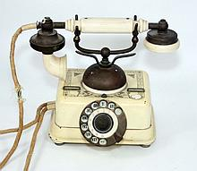 ANTIQUE DANISH TELEPHONE MARKED K JOBENHAWNS