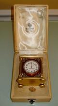 Rare Russian silver enamel table clock