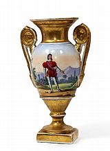 19TH CENTURY PARIS PORCELAIN GILT URN