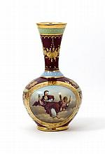 ROYAL VIENNA HAND PAINTED GOLD GILT VASE