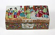 19TH C CHINESE FAMILLE ROSE  PORCELAIN BOX