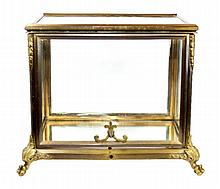 ANTIQUE BACCARAT GILT METAL FOOTED CURIO BOX