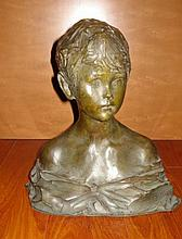 PAUL TROUBETZKOY BRONZE BUST OF A YOUNG BOY