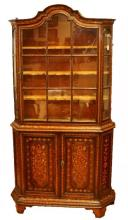 18TH CENTURY 2PC DUTCH MARQUETRY CABINET