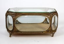 ANTIQUE FRENCH GILT METAL BOX