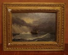 19 Century Russian Oil Painting on Canvas Ivan