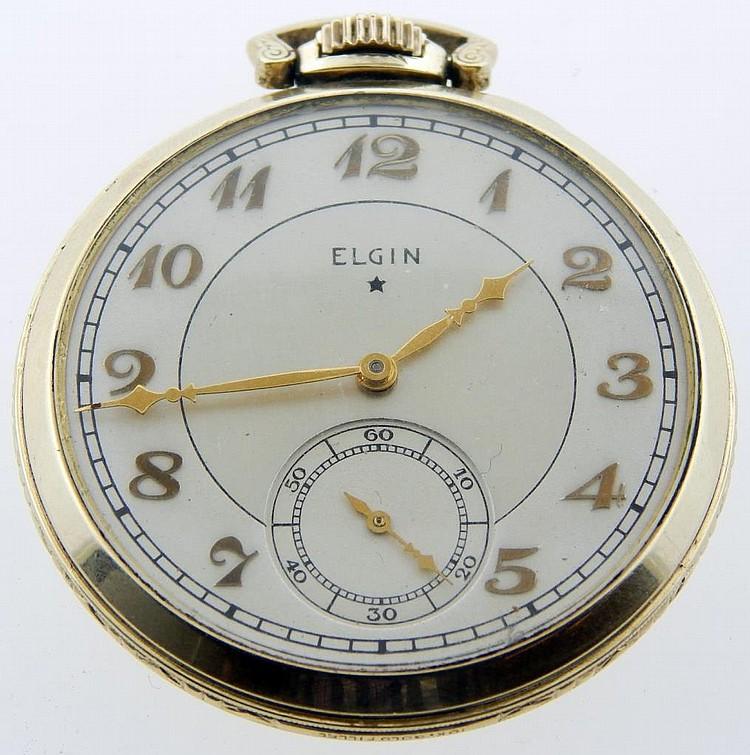 vintage elgin 10k gold filled pocket