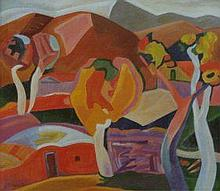 MINAS AVETISIAN CUBISM OIL PAINTING ON CANVAS