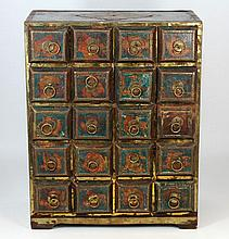 ASIAN CRAFTED BRONZE CLAD WOODEN NEST BOX