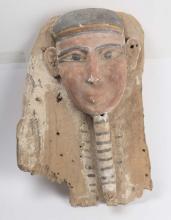 Ancient Egyptian Mummy Wood Bearded Mask c.620 BC.