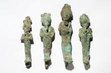 Lot of 4 Ancient Egyptian Figures of Osiris Late period