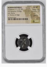 Ancient Coin: Roman Republic Silver Denarius D.Silanus L.f., c.91 BC