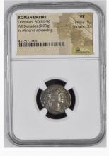 Ancient Coin: Roman Empire Silver Denarius Domitian, AD 81-96 ROMAN