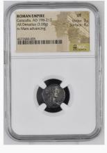 Ancient Coin: Roman Empire Silver Denarius Caracalla, AD 198-217 ROMA