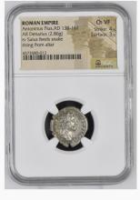 Ancient Coin: Roman Empire Silver Denarius Antoninus Pius,AD 138-161