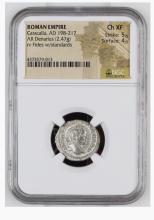 Ancient Coin: Roman Empire Silver Denarius Caracalla, AD 198-217