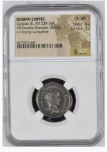 Ancient Coin: Roman Empire AR Double Denarius Gordian III, AD 238-244