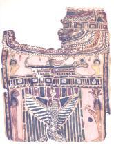 Ancient Egyptian Cartonnage Panel fragment c.300 BC.