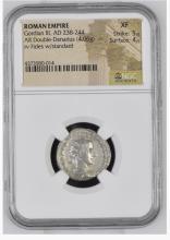 Ancient Coin: Roman Empire Silver Double Denarius Gordian III, AD 238