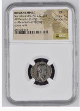 Ancient Coin: Roman Empire Silver Denarius Sev.Alexander, AD 222-235