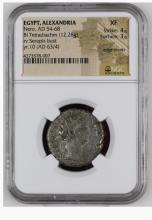 Ancient Coin: Egypt Alexandria Nero Billon Tetradrachm AD 54-68