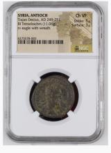 Ancient Coin: Roman Provencial Trajan Dacius Billon Tetradrachm AD 24