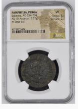Ancient Coin: Roman Empire Pamphylia Perga Salonina AD 254-268 AE 10-