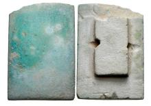 Ancient Egyptian Faience Tile Old Kingdom. 2686-2181 BC